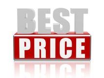 O melhor preço - letras e cubos Foto de Stock Royalty Free
