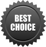 O melhor preto bem escolhido do selo do selo Fotografia de Stock