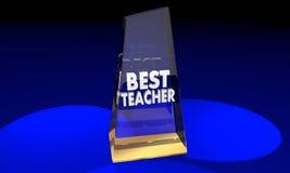 O melhor professor Award Prize Recognition do professor ilustração do vetor