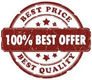 O melhor selo da oferta Fotografia de Stock