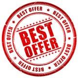 O melhor selo da oferta Fotografia de Stock Royalty Free