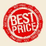 O melhor selo do preço. ilustração stock