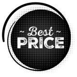 O melhor selo do preto do preço com textura de intervalo mínimo Foto de Stock