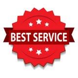 o melhor selo do serviço ilustração royalty free