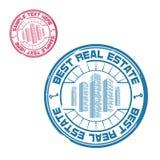 O melhor selo dos bens imobiliários Fotografia de Stock Royalty Free