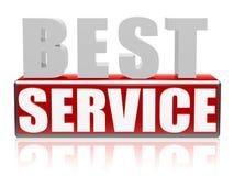 O melhor serviço nas letras e no bloco ilustração stock