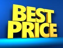 O melhor sinal do preço Fotografia de Stock Royalty Free