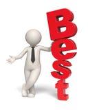 O melhor texto - homem de negócio 3d Fotografia de Stock Royalty Free