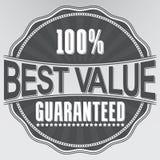 O melhor valor garantiu a etiqueta retro, ilustração do vetor ilustração royalty free