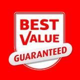 O melhor valor. Vetor. Fotografia de Stock Royalty Free