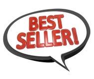 O melhor vendedor exprime o produto da parte superior de nuvem da bolha do discurso Imagem de Stock Royalty Free