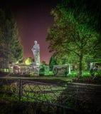 O memorial aos soldados caídos no fundo da estrela segue na região de Kaluga de Rússia Fotografia de Stock