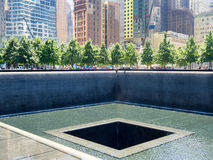 O memorial de 9/11 em New York City Fotos de Stock Royalty Free