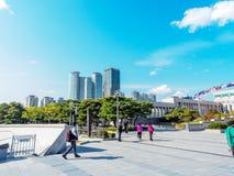 O memorial de guerra de Coreia situado o 22 de outubro de 2017 em Yongsan-gu, Fotos de Stock Royalty Free