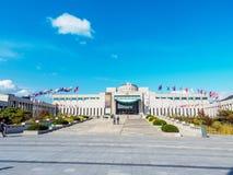 O memorial de guerra de Coreia situado o 22 de outubro de 2017 em Yongsan-gu, Fotografia de Stock