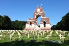 O memorial de Thiepval aos desaparecidos do Somme imagem de stock