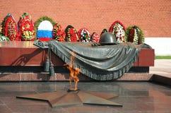 O memorial desconhecido do guerreiro em Moscovo Fotografia de Stock Royalty Free