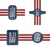 O memorial do dia do patriota etiqueta a coleção ilustração do vetor