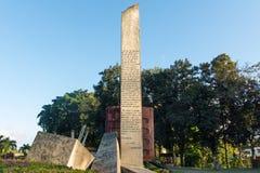 O memorial do trem embalado com soldados do governo capturou pelo Ch imagens de stock
