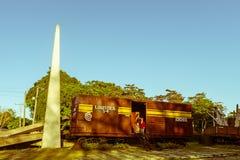 O memorial do trem embalado com soldados do governo capturou pelo Ch Imagem de Stock