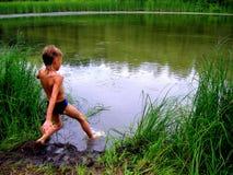 O menino Fotografia de Stock