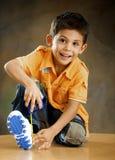 O menino alegre Fotografia de Stock Royalty Free