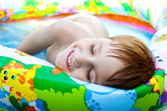 O menino banha-se Foto de Stock Royalty Free