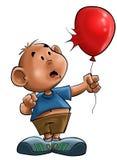 O menino com o balão Fotos de Stock Royalty Free