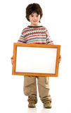 O menino com um frame imagens de stock