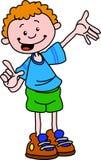 O menino de ensino ilustração do vetor