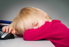 O menino de sono Imagens de Stock Royalty Free