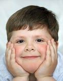 O menino de sorriso fotografia de stock royalty free