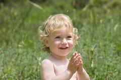 O menino de sorriso Foto de Stock Royalty Free