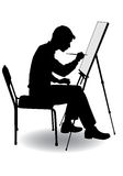 O menino desenha Fotos de Stock Royalty Free