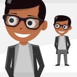 O menino do Avatar, ilustração do vetor, isolou objetos Para Web site modernos e o app móvel ilustração stock