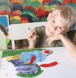 O menino do desenho. Imagem de Stock Royalty Free