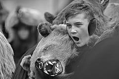 O menino 2 do urso Foto de Stock Royalty Free