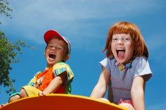 O menino e a menina. Fotos de Stock Royalty Free