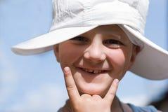 O menino em férias de verão. Imagens de Stock Royalty Free