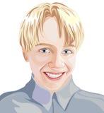 O menino feliz está sorrindo Imagens de Stock