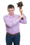 O menino gordo foi amedrontado Imagens de Stock Royalty Free