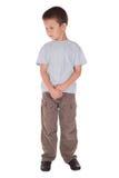 O menino triste reverte os olhos Foto de Stock