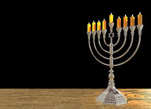 O menorah 3D do Hanukkah rende Fotografia de Stock Royalty Free