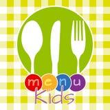 O menu de crianças Imagem de Stock Royalty Free