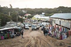 O mercado africano em Punta faz Ouro, Moçambique Foto de Stock Royalty Free
