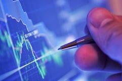 O mercado analisa Fotografia de Stock