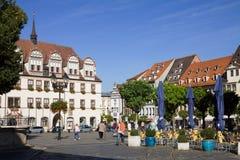 O mercado antigo em Naumburg; Saxony-Anhalt, Alemanha imagem de stock