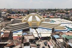 O mercado central Phsar Thmei em Phnom Penh Fotos de Stock Royalty Free