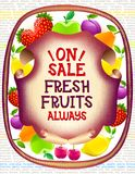 O mercado colorido do alimento objeta a coleção Foto de Stock