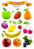 O mercado colorido do alimento objeta a coleção Fotografia de Stock